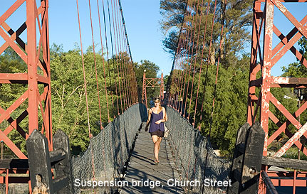 Suspension bridge in Church Street
