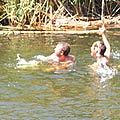 big tits monster swemming by shirt