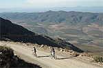 Cycle down the Swartberg Pass