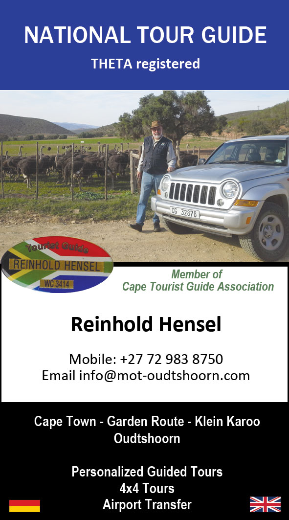 Personalized tours between Cape Town and Oudtshoorn