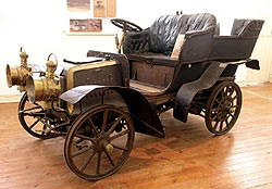 The 1902 Panhard Levassor that is on display in the CP Nel Museum.