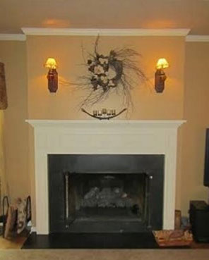 Fireplace before image