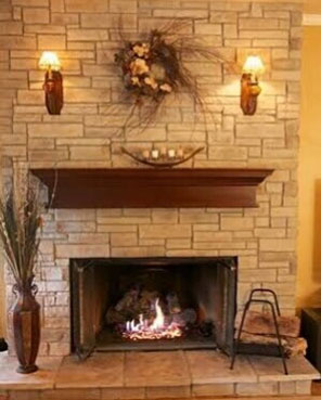 Fireplace after image